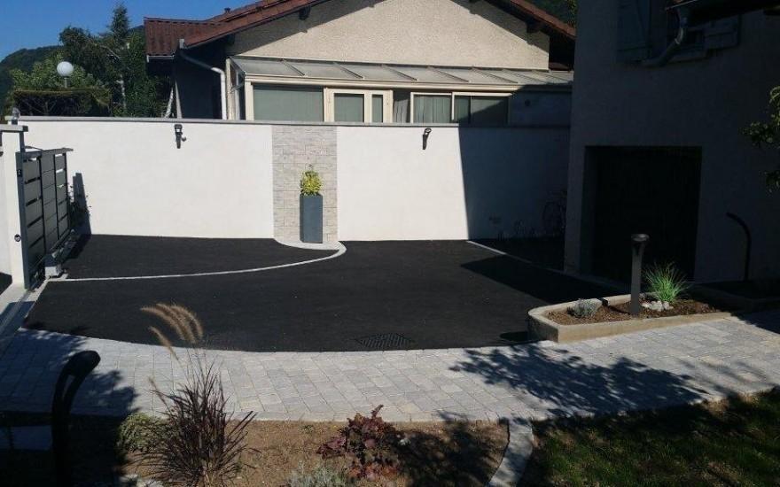 All e de garage en enrob noir chaud et pavage eybens - Allee de garage en enrobe ...