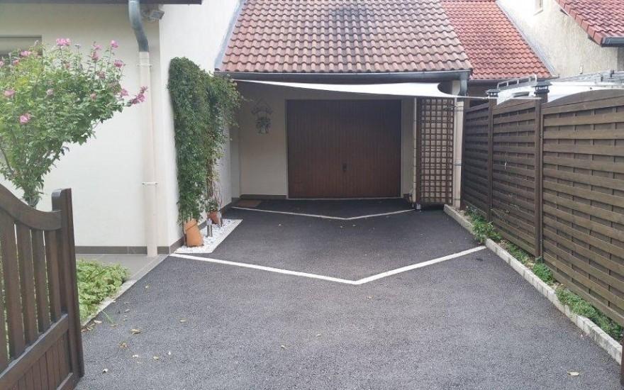Am nagement all e de garage en enrob noir chaud crolles - Allee de garage en enrobe ...