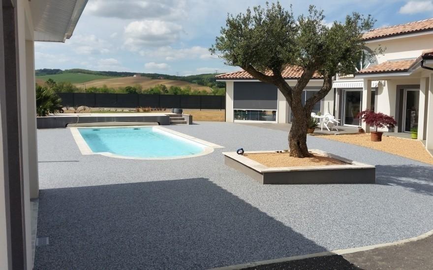 création plage de piscine en hydrostar® à montauban - 3966