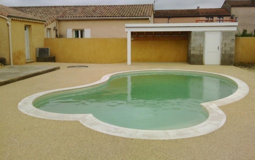am nagement plage de piscine en beton d sactiv cl on d. Black Bedroom Furniture Sets. Home Design Ideas