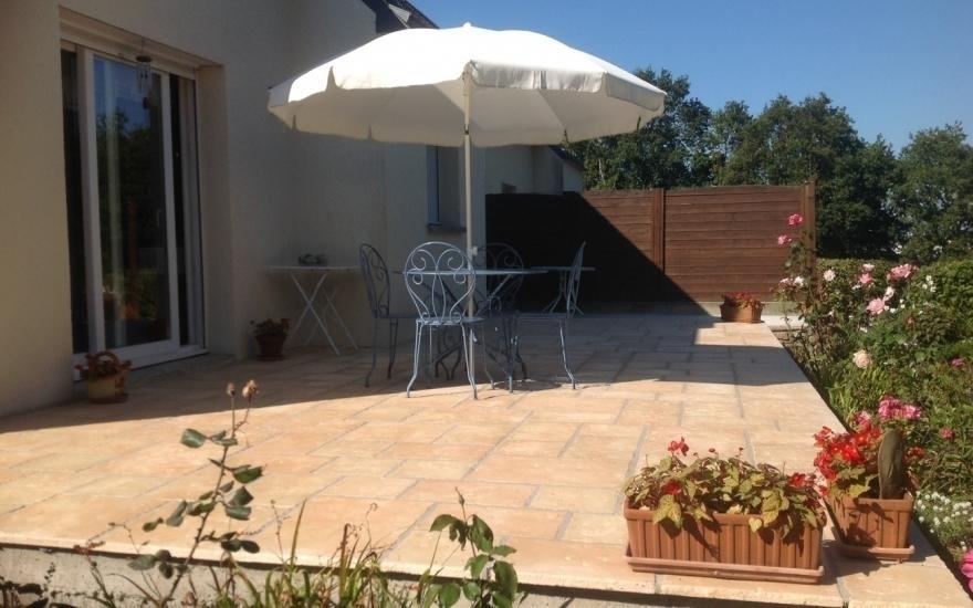 Conception Terrasse en dallage à Quimper - 4705