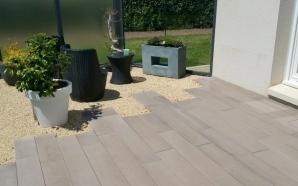 Exemple Terrasse en pavés, dalles, graviers ou en enrobé