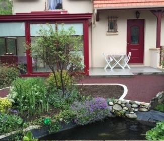 cr ation all e pi tonne en enrob rouge chaud r alis par lecaplain frepillon. Black Bedroom Furniture Sets. Home Design Ideas