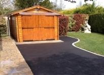 Enrob pour all e de jardin cour ou acc s de garage par for Revetement acces garage
