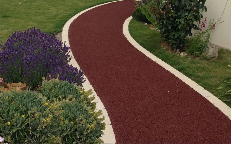 réalisation allée de jardin en béton poreux - entreprise raby à la