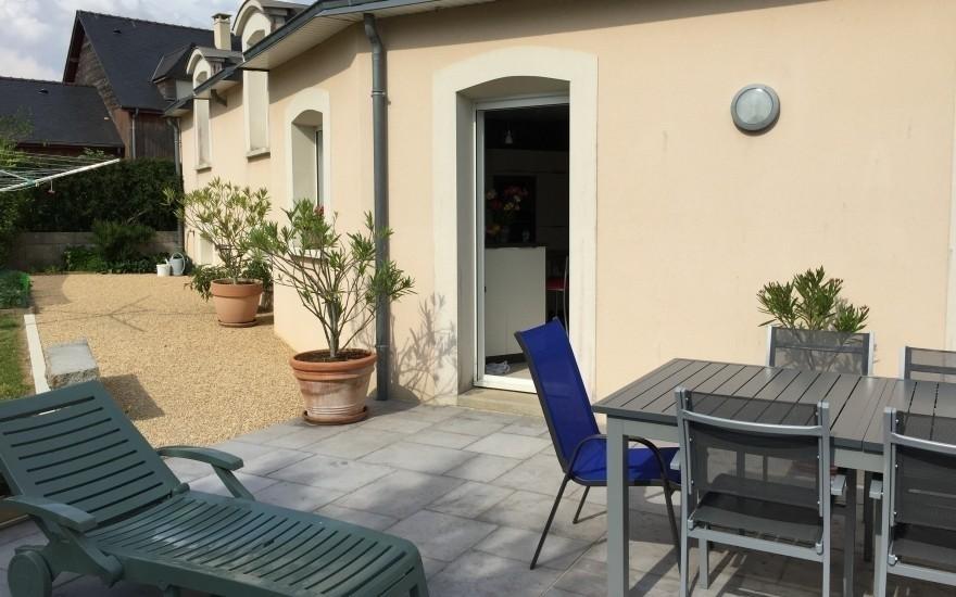 cr ation terrasse en dallage r alis par lepetit ch teau gontier. Black Bedroom Furniture Sets. Home Design Ideas