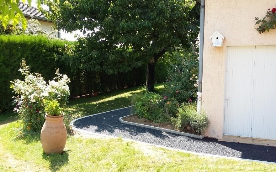 Cr ation all e de jardin en n rostar r alis par for Entreprise jardin 78