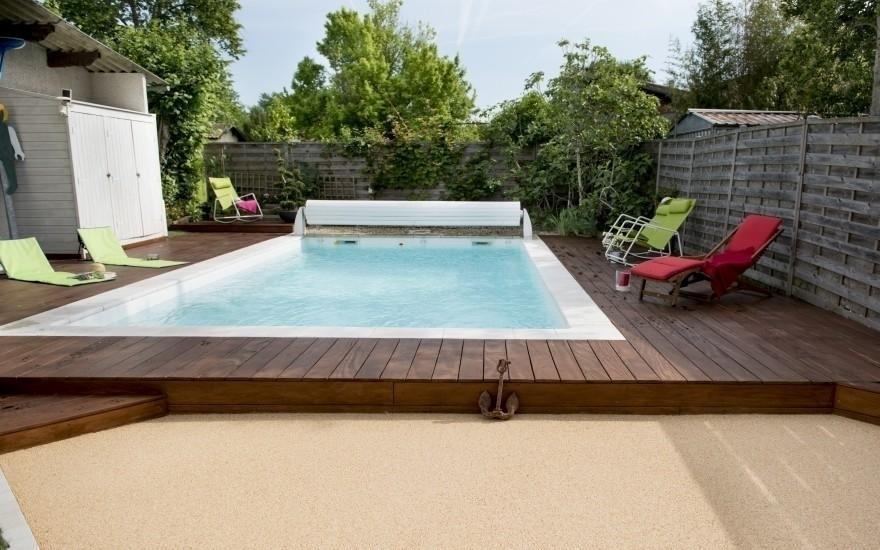 Conception plage de piscine en min ralstar r alis par for Cash piscine la teste de buch