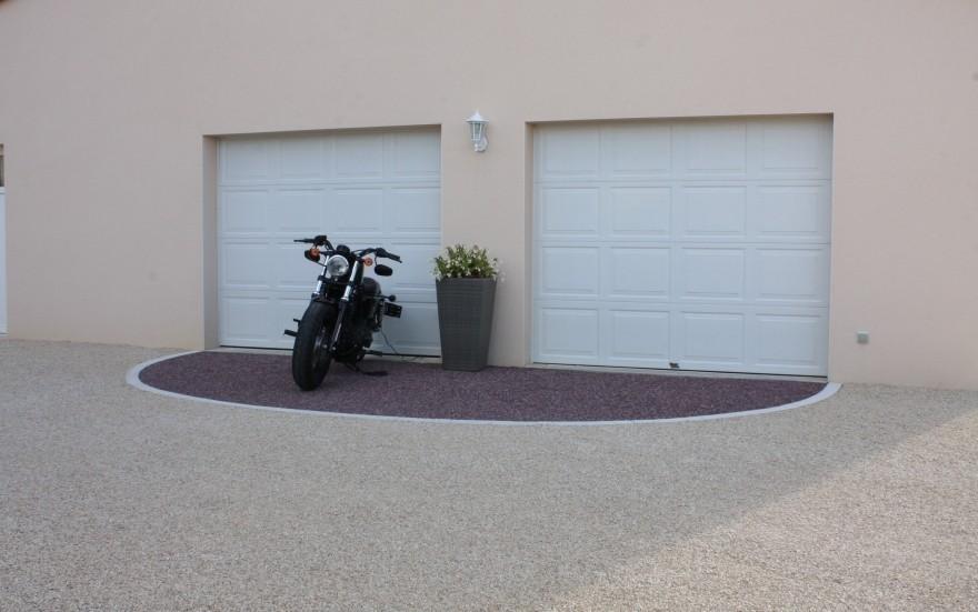 Cr ation all e de garage en alv ostar r alis par b l for Garage a poitiers