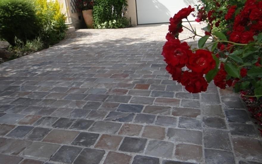 Exemple all e de garage en pavage r alis par vitale for Pavage allee garage