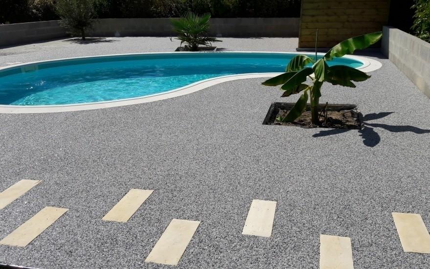 cr ation plage de piscine en hydrostar r alis par entreprise vidange pr s de libourne. Black Bedroom Furniture Sets. Home Design Ideas