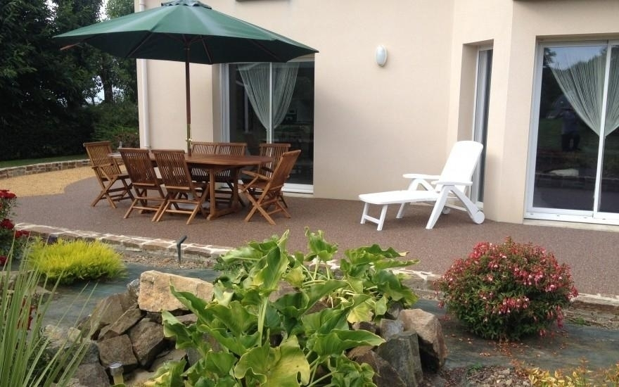 Exemple terrasse en hydrostar entreprise allain 22 saint denoual for Terras boibe