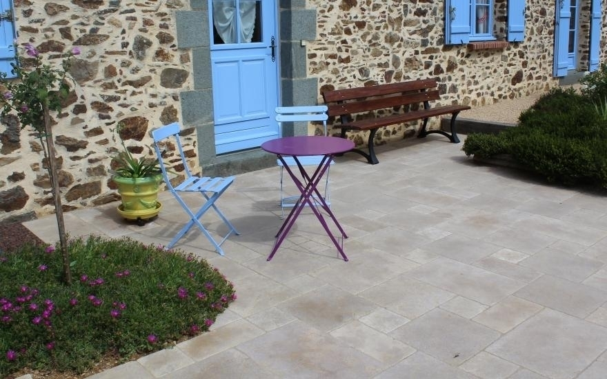 Conception terrasse en dallage entreprise cattin en moselle for Terras boibe